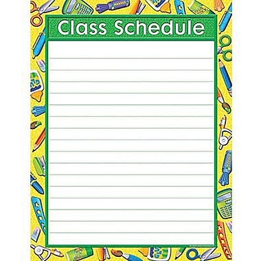Teacher Created Resources® tool For School Class Schedule Chart