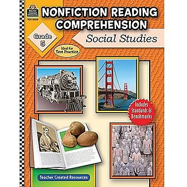 Teacher Created Resources® Nonfiction Reading Comprehension Social Studies Book, Grades 5th