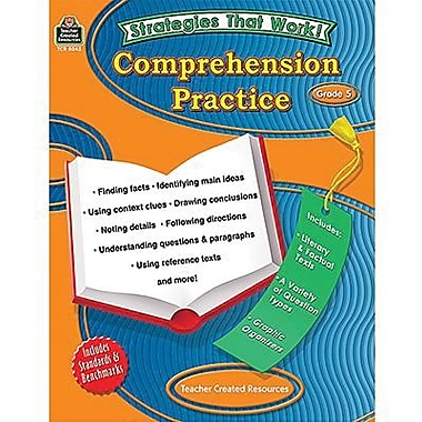 Teacher Created Resources® Strategies That Work Comprehension Practice Book, Grades 5th