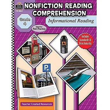 Teacher Created Resources® Nonfiction Reading Comprehension InFormational Reading Book, Grades 4th