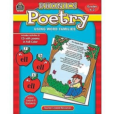 Teacher Created Resources® Using Word Families Phonics Poetry, Grades Kindergarten -2nd
