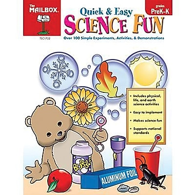 The Mailbox Books® Books® Quick and Easy Science Fun Book, Grades Pre Kindergarten - Kindergarten