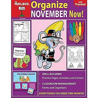 The Mailbox Books® Organize November Now! Monthly Plan Book, Grades pre-school