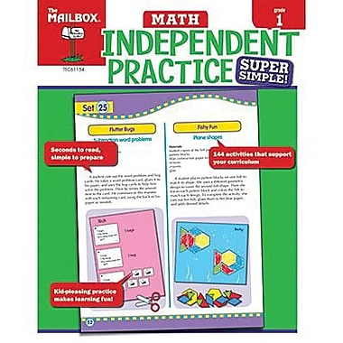 The Mailbox Books® Super Simple Independent Practice Math Book, Grades 1st