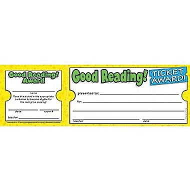 Teacher's Friend® Ticket Awards, Good Reading!