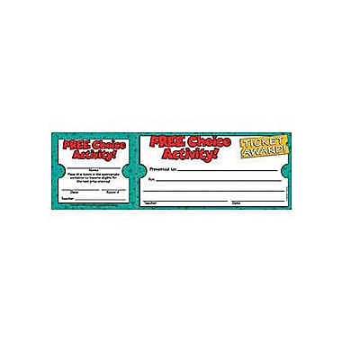 Teacher's Friend® Ticket Awards, Free Choice Activity!