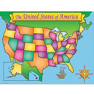 Teacher's Friend® USA Map Chart