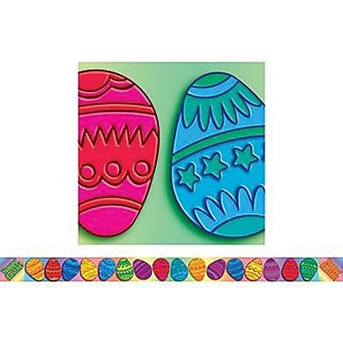Teacher's Friend® Pre Kindergarten - 6th Grades Bulletin Board Border With Corners, Easter Eggs