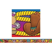 "Teacher's Friend TF-2927 36"" x 3"" Straight Western Round Up Borders, Multicolor"