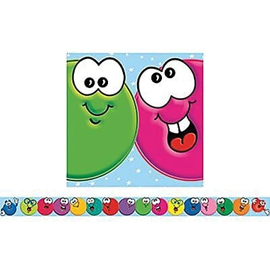 Teacher's Friend® Pre Kindergarten - 6th Grades Bulletin Board Border With Corners, Smiley Faces