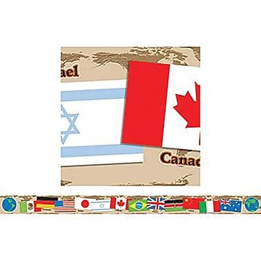 Teacher's Friend® pre-kindergarten - 6th Grades Bulletin Board Border W/Corners, International Flags