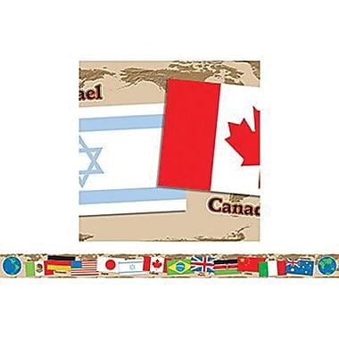 Teacher's Friend® pre-kindergarten - 6th Grades Bulletin Board Border W/Corners, International Flags