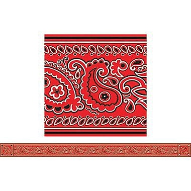 Teacher's Friend® Kindergarten - 2nd Grades Bulletin Board Border With Corners, Red Bandanna