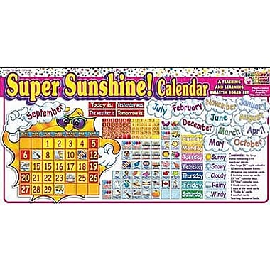 Teacher's Friend® Bulletin Board Set, Super Sunshine Calendar