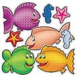 Teacher's Friend® Accent Punch-Outs, Fishy Fun