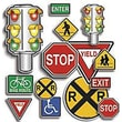 Teacher's Friend® Accent Punch-Outs, Safety Signs