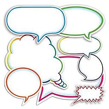 Teacher's Friend® Accent Punch-Outs, Dialogue Bubbles