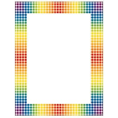Teacher's Friend® 11in. x 8 1/2in. Printer Paper, Rainbow Gingham