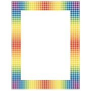 "Teacher's Friend® 11"" x 8 1/2"" Printer Paper, Rainbow Gingham"