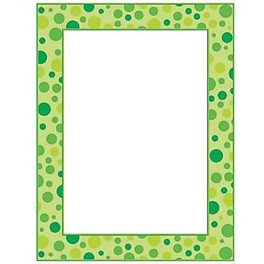 Teacher's Friend® 11in. x 8 1/2in. Printer Paper, Polka Dots, Green