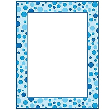 Teacher's Friend® 11in. x 8 1/2in. Printer Paper, Polka Dots, Blue