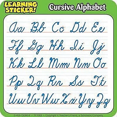 Teacher's Friend® Learning Stickers, Cursive Alphabet