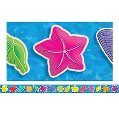 Teacher's Friend® Pre-kindergarten - 3rd Grades Bulletin Board Border With Corners, Seashells