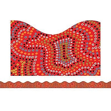 Teacher's Friend® pre-school - 12th Grades Scalloped Bulletin Board Trim, Aboriginal Art