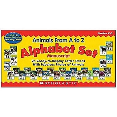 Teacher's Friend® Bulletin Board Set, Animals From A To Z Manuscript Alphabet Set