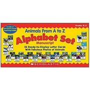 Teacher's Friend® Bulletin Board Set, Animals From A To Z Manuscript Alphabet Set