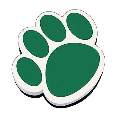 Ashley® Magnetic Whiteboard Eraser, Green Paw