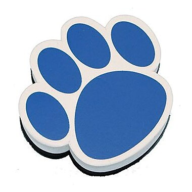 Ashley® Magnetic Whiteboard Eraser, Blue Paw