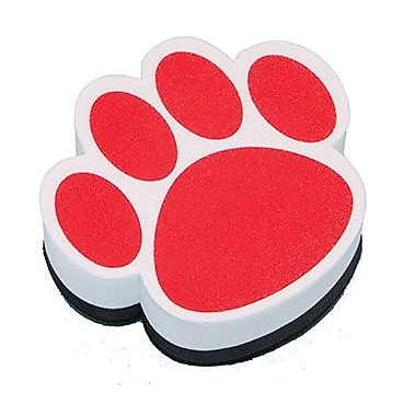 Ashley® Magnetic Whiteboard Eraser, Red Paw