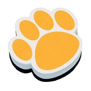 Ashley® Magnetic Whiteboard Eraser, Gold Paw