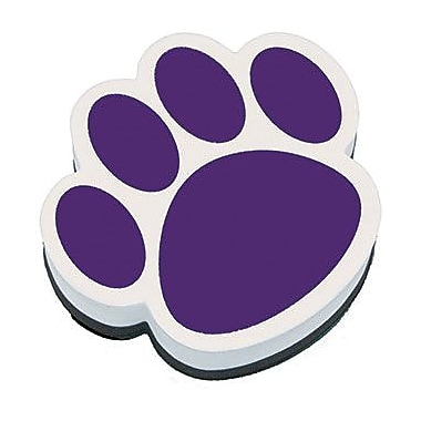 Ashley® Magnetic Whiteboard Eraser, Purple Paw
