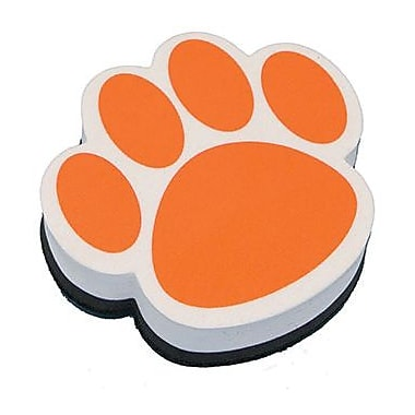 Ashley® Magnetic Whiteboard Eraser, Orange Paw