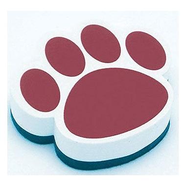 Ashley® Magnetic Whiteboard Eraser, Maroon Paw