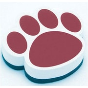 Ashley® Magnetic Whiteboard Eraser, Maroon Paw