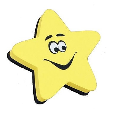 Ashley® Magnetic Whiteboard Eraser, Star