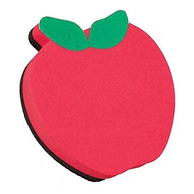 Ashley® Magnetic Whiteboard Eraser, Red Apple