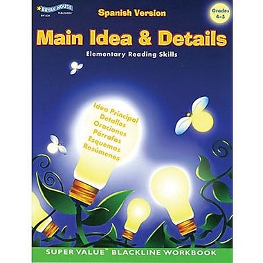 ECS Learning Systems Main Idea & Details Spanish Book, Grades 4th - 5th