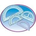 Charles Leonard® Metal Protractor, 4in. Ruler Edge