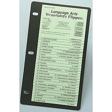 Christopher Lee Publications Language Arts Terminology Flipper Study Guide