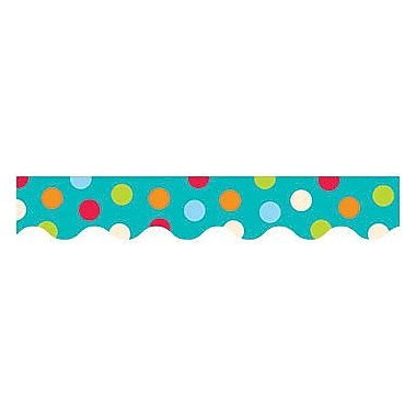 Creative Teaching Press™ preschool - 12th Grades Scalloped Bulletin Board Border, Dots On Turquoise