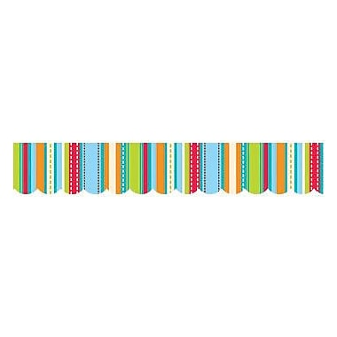 Creative Teaching Press™ pre-school-12th Grades Scalloped Bulletin Board Border, Stripes & Stitches