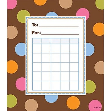 Creative Teaching Press™ Poppin' Patterns® Incentive Chart, Dots On Chocolate®