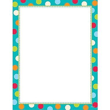 Creative Teaching Press™ 11in. x 8 1/2in. Computer Paper, Dots On Turquoise