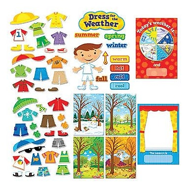 Creative Teaching Press Bulletin Board Set, Dress For The Weather