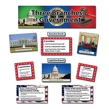 Creative Teaching Press™ Mini Bulletin Board Set, Three Branches of Government