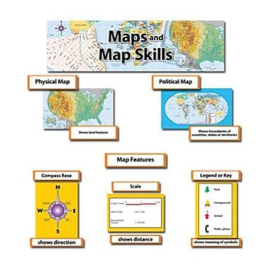 Creative Teaching Press Mini Bulletin Board Set, Map and Map Skills